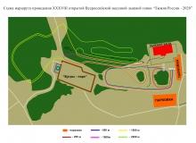 Схема маршрута Лыжня России 2020 (А3)